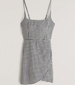 A&F Scoopneck Wrap Mini Dress Gingham